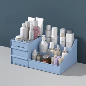 抽屉式化妆品收纳盒宿舍整理护肤桌面梳妆台面膜口红置物架塑料盒12元
