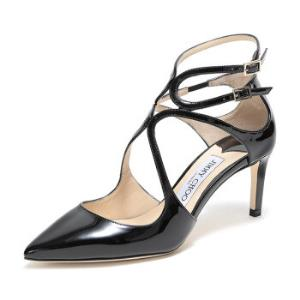 JIMMYCHOO周仰杰女士黑色漆皮高跟凉鞋LANCER65PAT247BLACK37码 2865元
