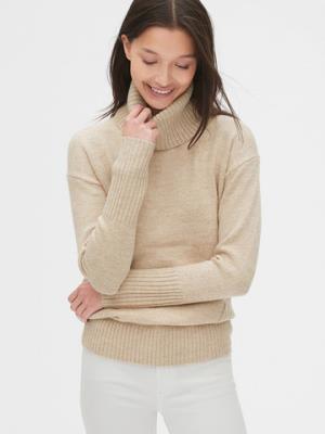 Gap盖璞473912女装简约纯色高翻领罗纹针织上衣*3件 437.6元(合145.87元/件)
