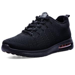 双星运动鞋男休闲气垫跑步鞋9055-1黑色42 79元