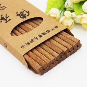 鸡翅木无漆无蜡原木筷子红檀木筷子10双装 13.9元