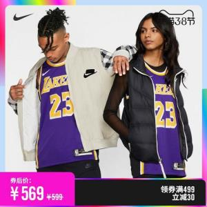 Nike耐克官方洛杉矶湖人队NBASWINGMANJERSEY詹姆斯球衣AA7097569元