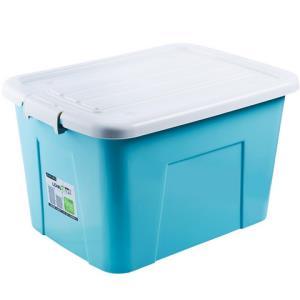 LONGSTAR龙士达塑料收纳箱带盖47*34*29cm2个装 38.9元包邮(需用券)