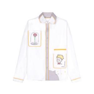 bosie潮牌衬衫男情侣装衬衣男长袖时尚休闲个性翻领印花小王子联名款白色XL*3件797元(合265.67元/件)