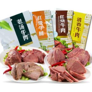 月盛斋酱牛肉卤牛肉熟食100g*4包*6件321.26元(合53.54元/件)