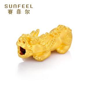 移动端:SUNFEEL赛菲尔SSR0076黄金貔貅3D硬金手串373元
