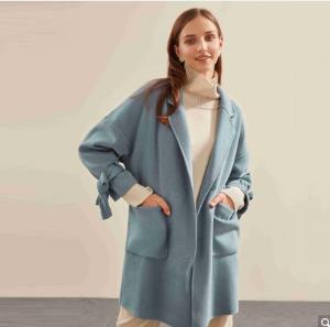 ME&CITY53359740女士羊毛中长款大衣 279元