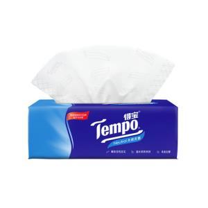 ]Tempo/得宝天然无香软抽纸巾4层加厚90抽/包纸品 2.9元