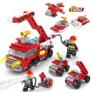 移动端:汇奇宝消防系列消防救援车队-142颗粒9.9元包邮(需用券)