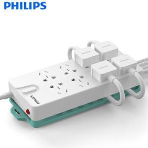 PHILIPS飞利浦SPS5830G/93新国标8位多功能插座3m*2件 低至50.15元/件