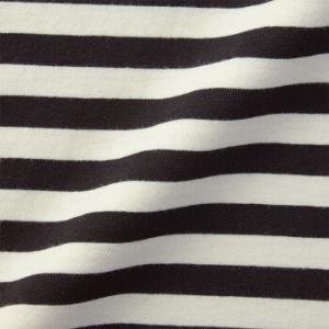 无印良品MUJI女式印度棉天竺编织圆领长袖T恤黑色X条纹L*2件    116.8元(合58.4元/件)
