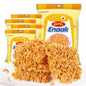 印尼进口(GEMEZEnaak)小鸡干脆面方便面干吃面休闲零食烧烤鸡肉味16g*4包*21件    160.8元(合7.66元/件)