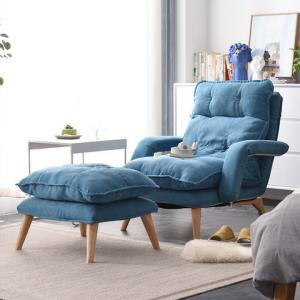 家逸懒人沙发卧室单人小沙发椅阳台折叠靠背休闲椅网红榻榻米躺椅 429元包邮