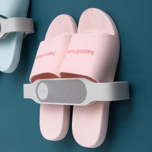 浴室拖鞋架免打孔卫生间洗澡间放托鞋架收纳神器抖音同款厕所壁挂 9.9元