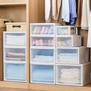 爱丽思IRIS塑料收纳箱抽屉式透明整理箱白色35*45*18cmBC450S四个装*3件 625.8元(合208.6元/件)