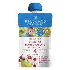 贝拉米Bellamy's婴幼儿辅食车厘子石榴梨苹果泥120g/袋4个月以上宝宝适用澳洲原装进口*10件 168元(合16.8元/件)