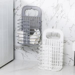 家用可折叠脏衣篮篓塑料挂墙收纳筐浴室洗衣篮脏衣服玩具收纳筐桶22元(需用券)