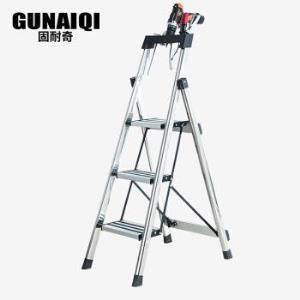 GUNAIQI固奇耐不锈钢可折叠三层步梯 84元