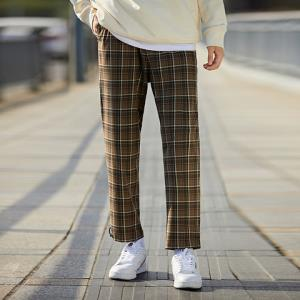 PEACEBIRDMEN太平鸟男装BWGBA1624休闲格纹长裤*3件