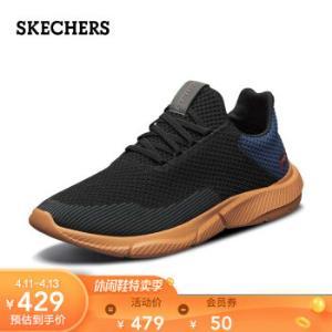 Skechers斯凯奇男鞋20新款时尚网面透气休闲鞋轻质舒适懒人一脚套鞋65867BKNV/黑色/蓝色39.5*2件 760.1元(合380.05元/件)