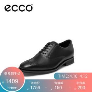 ECCO爱步牛津鞋商务正装皮鞋男春季雕花布洛克鞋卡��翰640774黑色6407740100141 1321.05元