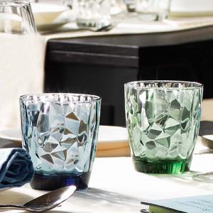 BormioliRocco波米欧利罗克意大利进口钻石玻璃水杯两只装 34元