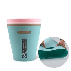 茶花垃圾桶塑料家用厨房卫生间客厅大小号时尚创意欧式纸篓垃圾筒*2件17.64元(合8.82元/件)