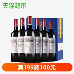拉菲红酒整箱原瓶进口送礼礼品巴斯克卡本妮苏维翁干红750ml*6505元
