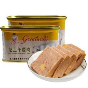 京东PLUS会员:长城芝士午餐肉小白猪罐头198g*2罐*7件*7件150.72元(合21.53元/件)