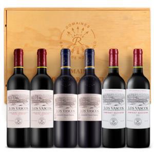 拉菲(LAFITE)智利进口红酒拉菲巴斯克(精选+珍藏卡麦妮+卡本妮苏维翁)6支木箱装*3件3497.3元(需用券,合1165.77元/件)