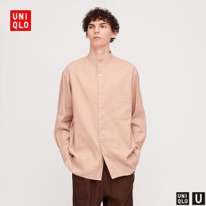 UNIQLO优衣库U系列426177麻棉立领衬衫 99元