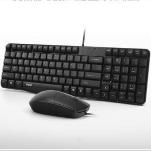 Rapoo雷柏K120键盘鼠标套装有线USB 34.8元