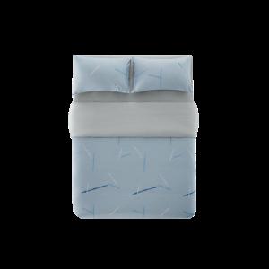 YANXUAN网易严选蓝色夏日纯棉床上四件套1.5米床 159元