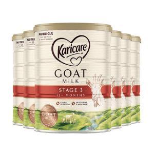 Karicare可瑞康婴幼儿羊奶粉3段900g6罐装1555.5元