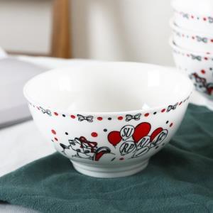 顺祥陶瓷陶瓷餐具套装小甜心5英寸碗6件套 24.95元