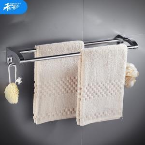 千家乐打孔不锈钢毛巾架卫生间浴巾架浴室挂件卫浴五金双浴巾杆43元