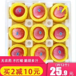正宗烟台红富士苹果5斤装约12个大果装新鲜水果甜脆非糖心丑苹果*2件45.8元(合22.9元/件)
