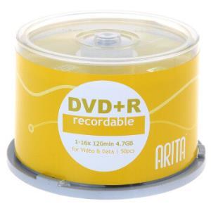 铼德(ARITA)DVD+R光盘/刻录盘e时代系列16速4.7G桶装50片*5件190元(合38元/件)