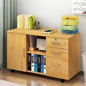 Doruik办公室矮柜员工柜文件柜办公桌下柜子简易床头柜多功能木质小柜子 99元