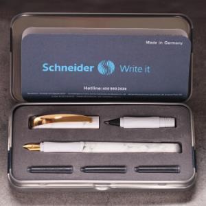 Schneider施耐德云石系列钢笔+宝珠笔礼盒套装 79元包邮(需用券)