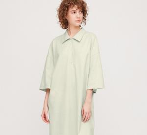 UNIQLO优衣库42319女士中长款POLO式五分袖连衣裙 99元