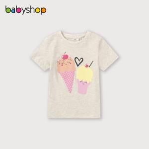 babyshop迪拜Juniors女童印花T恤2020夏季新品儿童洋气短袖上衣潮 49元