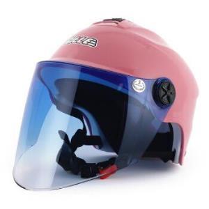GILLET26电动摩托车头盔夏天男女通用夏盔轻便式电瓶车安全帽夏季防晒半盔均码粉色镜片颜色随机 89元