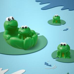 babycare宝宝洗澡玩具小鸭鸭男女孩捏捏叫婴儿戏水游泳小青蛙玩具 29.5元