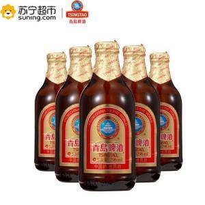 青岛啤酒高端小棕金质296ml*24瓶整箱品质香醇顺滑新鲜正品包邮 100元