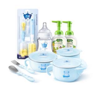 子初(Springbuds)儿童餐具注水保温碗套装婴儿奶瓶宝宝餐具温吸盘碗