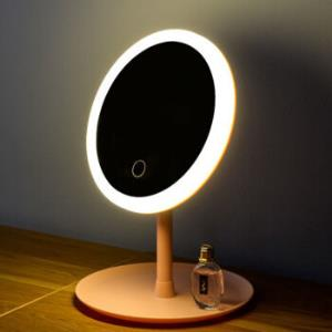 LISMled带灯桌面台式梳妆镜充电款圆形单色光1200mA 27.47元
