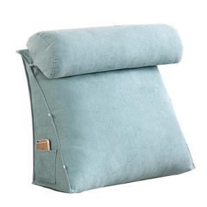韩国绒床头大靠背三角靠垫沙发护腰靠垫办公室靠背垫床上护颈靠枕 49元(需用券)