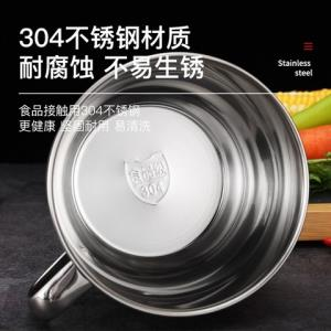 WORTHBUY沃德百惠304不锈钢泡面碗带盖1300ml 9.9元(需用券)