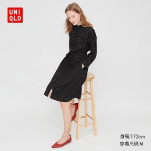 1日0点、61预告、再降价:UNIQLO优衣库426613女士印花连衣裙 99元包邮